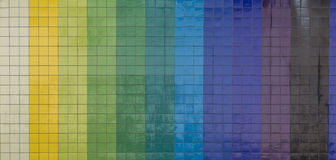 Vertical colorful tiling wall of the city Stock Photos