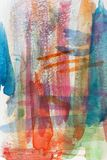 Watercolor colorful abstract. Vertical colorful watercolor abstract in various random colors Vector Illustration
