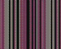 Vertical coloured strips on fabric with texture Royalty Free Stock Photo