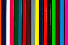 Vertical colourful stripes of multicolored wooden pencils backgr Stock Image
