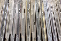 Vertical Compact  Disks Holders Patterns and Textures Stock Images