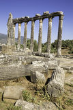 Vertical composition columns of the ancient temple of Zeus at Euromos Royalty Free Stock Photos