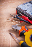 Vertical composition electrical tools multimeter Stock Photography