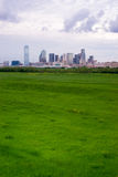 Vertical Composition Greenbelt Dallas Texas City Skyline Storm B Royalty Free Stock Photography