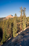 Vertical Composition Moonrise Brokeoff Mountain Lassen National Royalty Free Stock Image