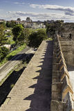 Vertical composition view of Yedikule Fortress wall ruins Stock Images
