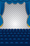 Vertical concert blue stage Royalty Free Stock Image