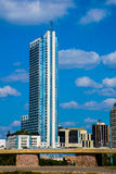Vertical condo standing alone an austin texas. Near downtown with an amazing urban view of the city Royalty Free Stock Image