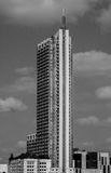 Vertical 360 condominium Tower Austin Texas Black and white Royalty Free Stock Photography