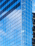 Vertical corner of modern office building Royalty Free Stock Photos