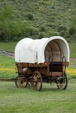Vertical covered wagon Stock Images