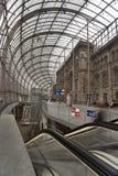 Vertical da estação de comboio de Stasbourg imagens de stock royalty free