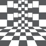 Vertical da ilustração do vetor e campos quadriculados horizontais ilustração royalty free