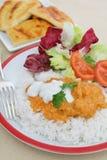 Vertical da refeição do masala do tikka da galinha Fotos de Stock Royalty Free