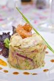 Vertical da salada da batata imagens de stock royalty free