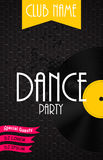 Vertical Dance Party Flyer Background with Place Royalty Free Stock Photography