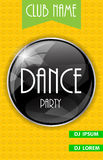 Vertical Dance Party Flyer Background with Place Stock Photography