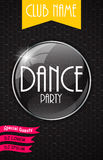 Vertical Dance Party Flyer Background with Place Stock Photos