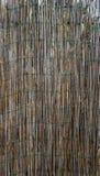 Vertical de bambú de la cerca de la pared Imágenes de archivo libres de regalías