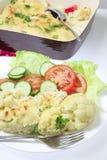 Vertical de la comida del queso de la coliflor Imagenes de archivo
