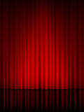 Vertical de la cortina del teatro Imagenes de archivo
