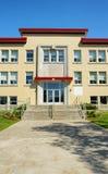 Vertical de la entrada de la escuela Imagen de archivo