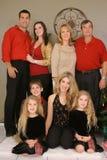 Vertical de la familia de la Feliz Navidad Imagenes de archivo