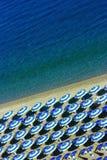 Vertical de la geometría de la playa Foto de archivo libre de regalías