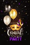 Vertical de la invitación del carnaval Fotos de archivo
