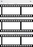 Vertical de la plantilla de la película del Storyboard Imagen de archivo