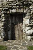 Vertical de madeira pequeno da porta Fotografia de Stock