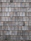 Vertical de madera de la pared del cedro viejo Imagen de archivo