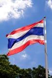 Vertical de ondulação da bandeira de Tailândia Foto de Stock Royalty Free