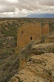 Vertical de ruínas do cliffside no monumento nacional de Hovenweep Fotos de Stock Royalty Free