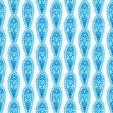 Vertical Decorative Blue Pattern Stock Photography