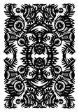 Vertical decorative pattern with flowers Royalty Free Stock Photography