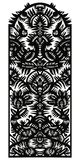 Vertical Decorative Pattern With Birds And Flowers Stock Photography