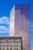 Vertical del árbol del cielo del rascacielos con un edificio más viejo Fotografía de archivo
