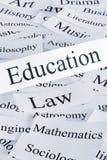 Vertical del concepto de la educación Imagen de archivo libre de regalías