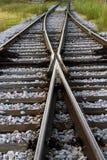 Vertical del cruce ferroviario Foto de archivo libre de regalías