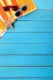 Vertical del espacio de la copia de la frontera del fondo de la playa del verano Fotografía de archivo libre de regalías