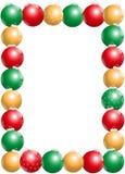 Vertical del marco de las bolas de la Navidad Fotos de archivo
