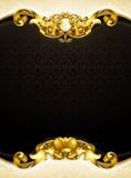 Vertical del negro del fondo de la vendimia Fotografía de archivo libre de regalías