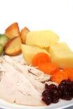 Vertical del primer de la cena de la Navidad foto de archivo