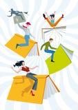 Vertical del rodeo de los libros ilustración del vector