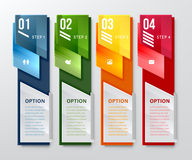 Vertical design number banners template Royalty Free Stock Image