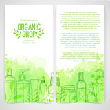 Vertical design template of brochures, booklets Royalty Free Stock Photography