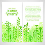 Vertical design template of brochures, booklets Stock Photos
