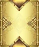 Vertical do cartão do ouro Fotografia de Stock