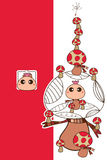 Vertical do cogumelo da mascote Fotografia de Stock Royalty Free